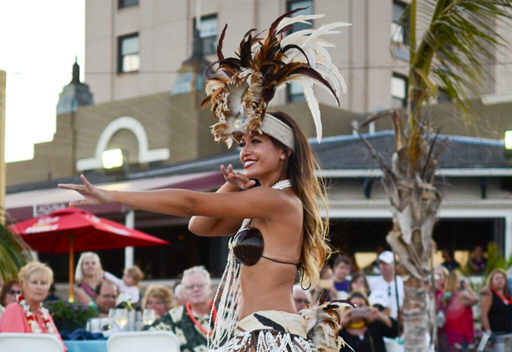 tahitian dancer in brigantine new jersey beach